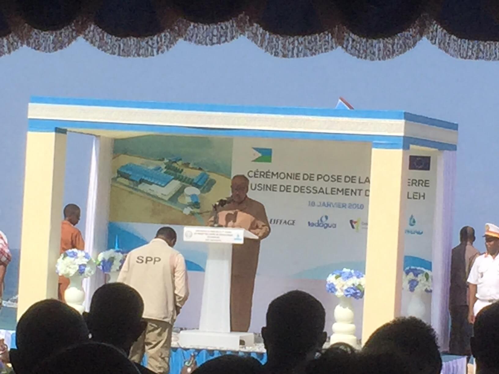 Djibouti desalination President Ismael Omar Guelleh Speach