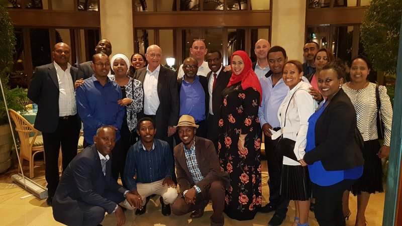 Massida Solutions PLC Ethiopia staff diner at Sheraton Addis Ababa